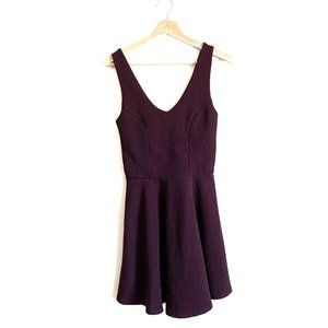 TOPSHOP | DARK BURGUNDY LOW CUT  DRESS